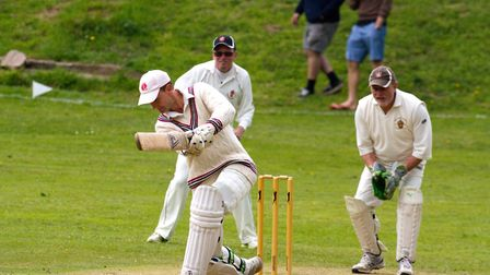 Phil Grove batting for Sidbury at home against Axminster 2nds. Ref shsp 21 19TI 5249. Picture: Terry