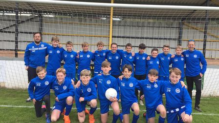 Ottery St Mary Under-13s who had a superb 2018/19 seaosn. Picture STEPHEN UPSHER