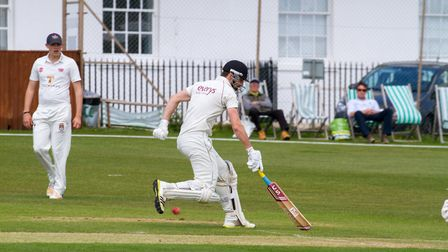 Josh Bess batting for Sidmouth at home to Exmouth. Ref shsp 20 19TI 4786. Picture: Terry Ife