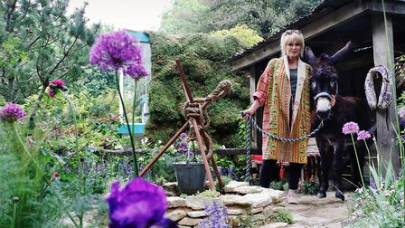 Joanna Lumley appears at the Royal Chelsea Flower Show at the Donkey Sanctuary garden. Picture: RHS