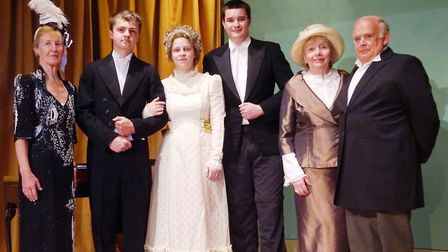 The cast rehearsing Lady Windermere's Fan. Picture: The Tipton Players