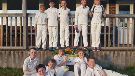 Ottery St Mary U11s after their Cup win over Sandford that takes them into a June quarter-final ti