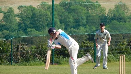 Ed Hurley batting for Sidmouth IIIs at Bradninch. Picture STEVE BIRLEY