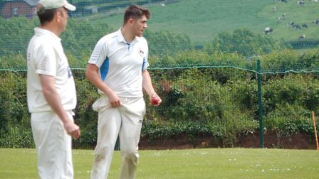 Sidmouth IIIs player Ed Hurley who took four wickets and scored a half century in the win at Bradnin