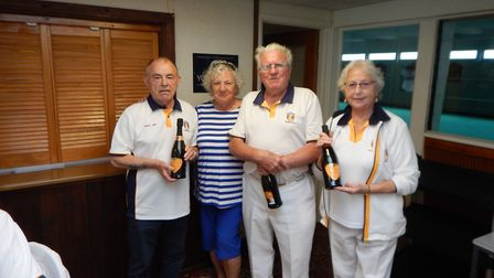 Sidmouth's Bank Holiday winners. Picture SBC