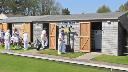 The new changing facility for visiting team to Ottery St Mary Bowls Club. Picture MICHAEL SMITH