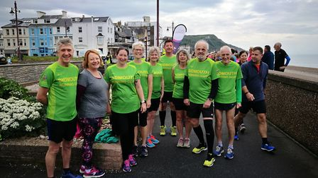 Nine of the SRC members that took part I the latest Seaton Parkrun. Picture SRC