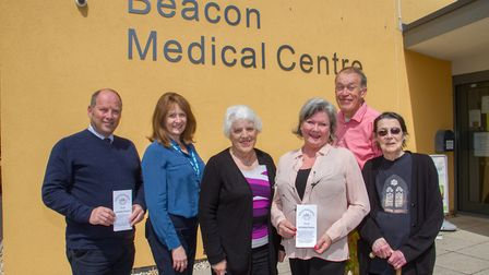 Members of The Patient Participation Group outside Beacon Medical Centre. Ref shs 21 19TI 5326. Pict
