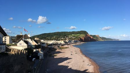 The view over Sidmouth from Connaught Gardens