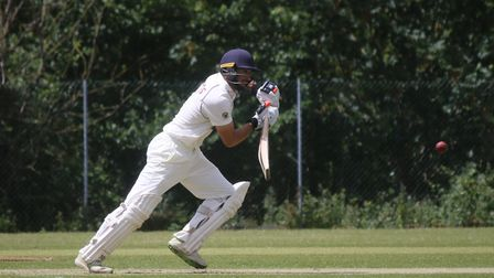 Sidmouth batsman Alex Barrow in action at Exeter. Picture GERRY HUNT
