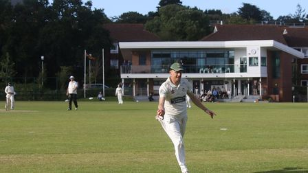Sidmouth's Will Murray holds a superb catch in the win at Exeter. Picture GERRY HUNT