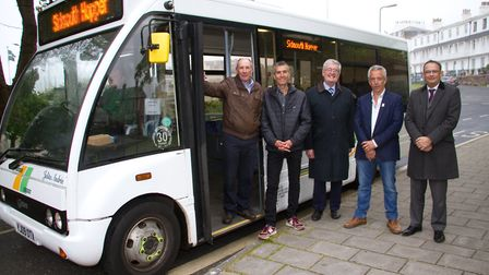 Kelvin Dent, John Crouch, David Wheaton, Ian Barlow and Chris Holland at the official launch of the
