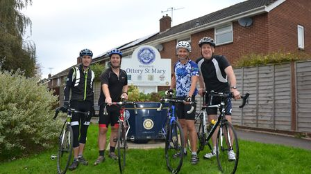 Ottery is looking to set up its own cycling club. Pictured are cyclists who competed in Ottery's fir