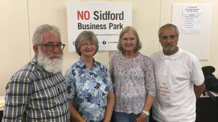 John Loudoun, Marianne Rixson, Sue Dyson and Keith Hudson gave an update on the campaign at a meetin