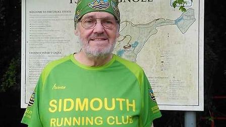 Sidmouth Running Club's David Skinner after his Parkrun in Wales that saw him add the letter G to hi