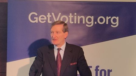 Dominic Grieve, independent MP for Beaconsfield, speaking at a Best for Britain press conference (pi