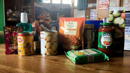 Andie Milnes at Sidmouth's food bank. Ref shs 16 19CP 2297. Picture: Clarissa Place
