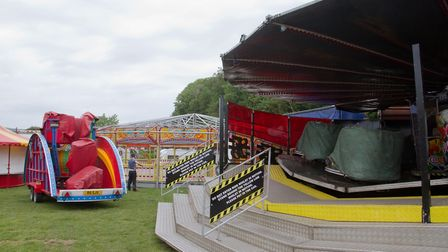 The funfair is back in Sidmouth. Ref shs 23 19TI 5682. Picture: Terry Ife