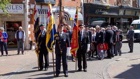 'Sidmouth Remembers' on the 75th D-Day Anniversary. Ref shs 23 19TI 5787. Picture: Terry Ife