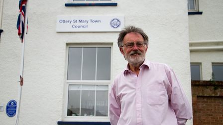 Ottery St Mary Mayor Roger Giles. Ref sho 23 19TI 5767. Picture: Terry Ife
