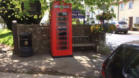 The telephone box in its new location and looking spic-and-span. Picture: Andy Webb