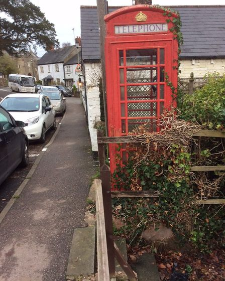 The telephone box before its transformation and relocation. Picture: Andy Webb