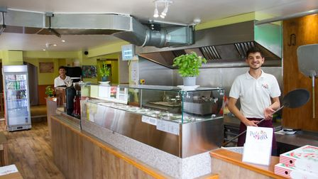 Zenel and Erando Sinanaj of PizzAmore in Ottery St Mary. Ref sho 24 19TI 6664. Picture: Terry Ife