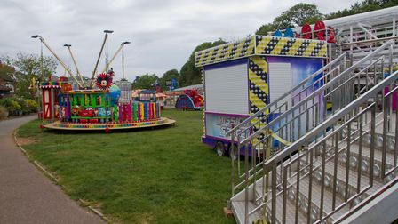 The funfair is back in Sidmouth. Ref shs 23 19TI 5678. Picture: Terry Ife