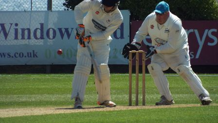 Sidmouth Cricket Club in action against North Devon Cricket Club.Picture: Sam Cooper