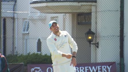 Jamie Overton plays against Sidmouth Cricket Club. Picture: Sam Cooper