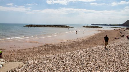 Sidmouth beach. Ref shs 27 19TI 7122. Picture: Terry Ife