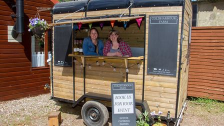 Beth and Andrea of Coldharbour Farm Shop. Ref edr 20 19TI 4969. Picture: Terry Ife