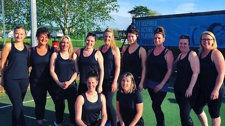 Beer-based netball team Shooting Starz who play in the Honiton Netball League. Picture STEPH UPSON