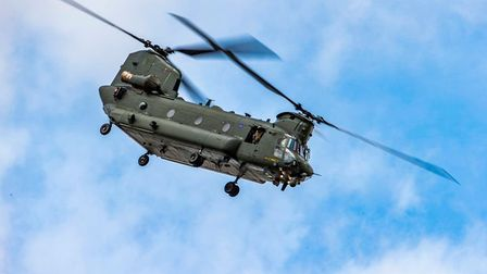 RAF Chinook at Weston Air Festival and Armed Forces Weekend 2019.