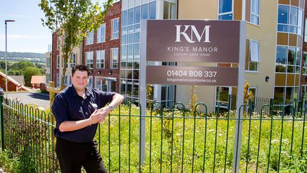 Lee Houston, Manager at King's Manor, luxury care home in Ottery St Mary. Ref sho 28 19TI 7333. Pict