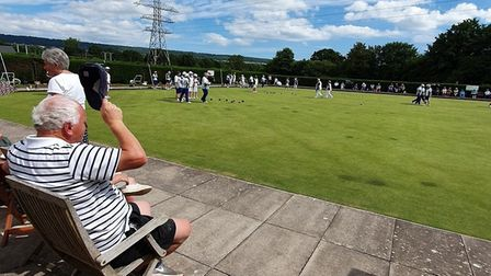 Spectators enjoying the Devon versus Worcestershire meeting at Ottery St Mary. Picture MICHAEL SMITH