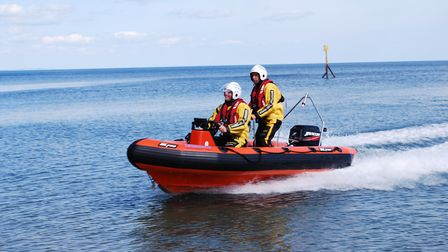 Sidmouth Lifeboat were called out to assist a group of kayakers on Friday afternoon. Picture: Mark E