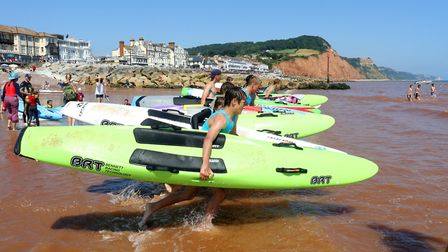 Sidmouth Surf Life Saving Club 'Longest Day Challenge' of 20018. This Sunday (July 14) it is the 200
