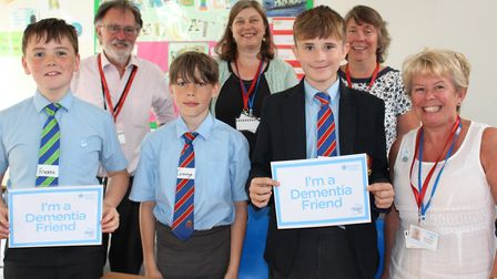Roger Giles mayor of Ottery Town Council joined The King's School students and members of Ottery Hel