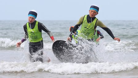 The Sidmouth Surf Life Saving Club Devon Nippers in action. Picture: Simon Horn