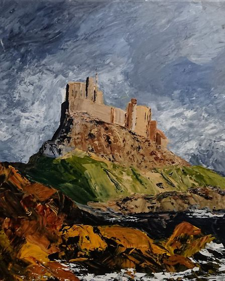 Winning painting Lindisfarne, by Judy Ritz. Picture: Cherry Ferris