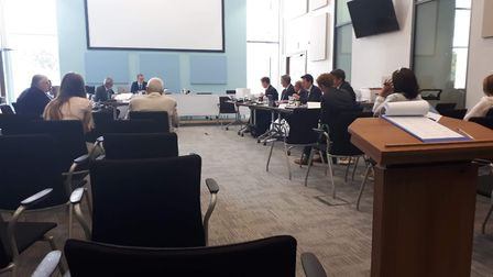 A three-day inquiry is taking place at East Devon District Council's headquarters at Blackdown House