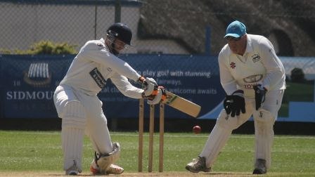 Zach Bess batting for Sidmouth in the win over North Devon. Picture GERRY HUNT