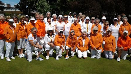 members of Sidmouth and the Welsh touring side Rhiwbina. Picture CAROL SMITH