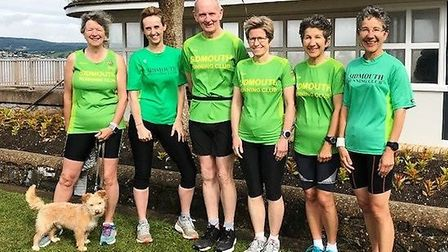 Sidmouth Running Club mmebers at the Exmouth Parkrun. Picture SRC