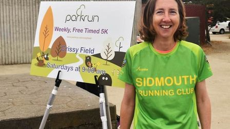 Sidmouth Running Club's Sue Collman at a Parkrun in sunny San Francisco. Picture SRC
