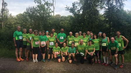 Sidmouth Running Club members who took part in the Woodland Relays organised by Axe Valley Runners.