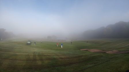 Golf on a foggy day! Picture TERRY IFE