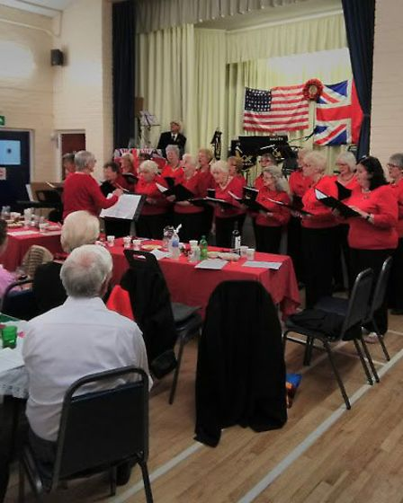 Musical entertainment at the D-Day anniversary event. Picture: Peter Eagles