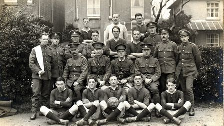 The names of these soldiers are unknown, but the photo was taken in Riverside. Picture: Sidmouth Mus